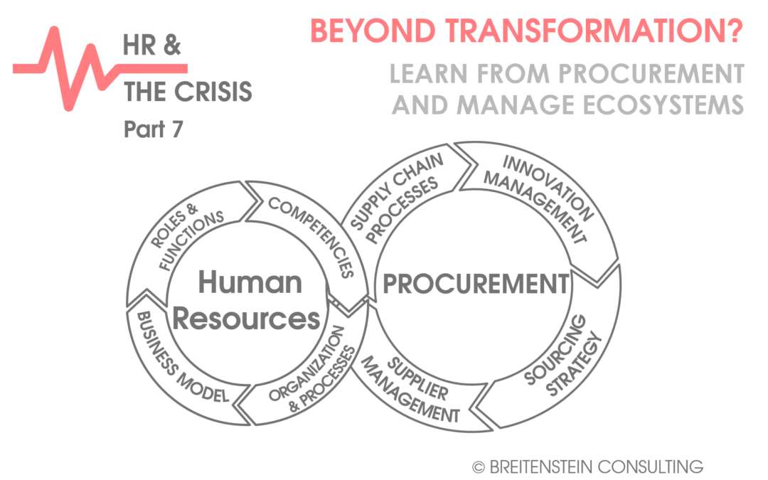 BEYOND TRANSFORMATION – Learn from Procurement and Manage Ecosystems…